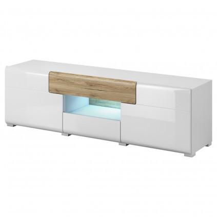 TV-benk Tolledo 159 cm - Hvit Høyglans - Moderne Design