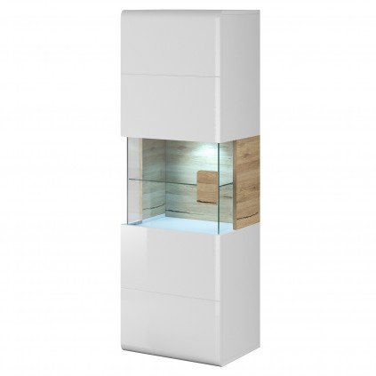 Vitrineskap Tolledo - Vegghengt vitrine med LED