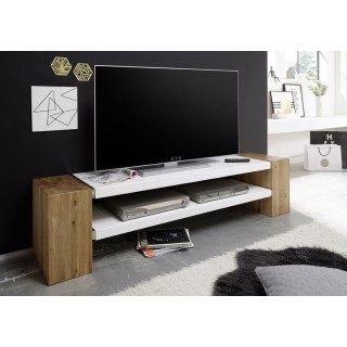 TV-Benk Jane 170 cm - Oljet Eik - Hvit Matt