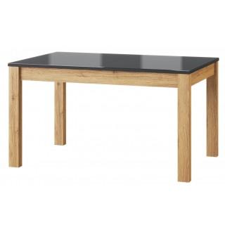 Spisebord Kama 136-210 cm - Svart - Eikelook
