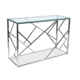 Konsollbord Escada 120 cm - Glass - Krom