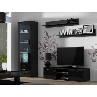 Seksjon Soho - Vitrine - TV-benk - Vegghylle