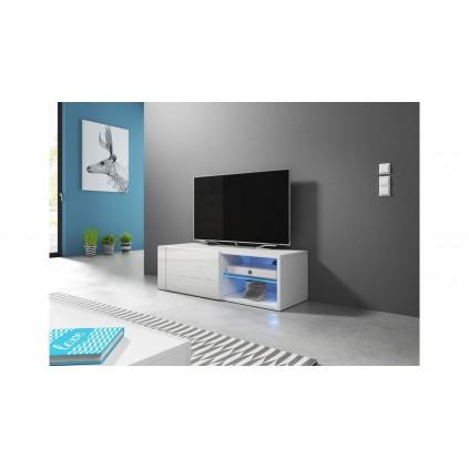 Tv-benk Base Liten Hvit 100 cm LED lys