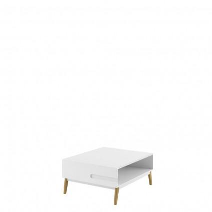 Stuebord Modena 80 cm Hvit Høyglans