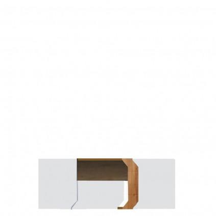 Tv-benk Loft 130 Hvit Høyglans