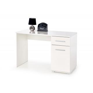Buna skrivebord 120 cm Hvit Høyglans