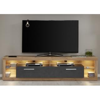 Alexa TV-benk 200 cm - Svart Eik - Trelook