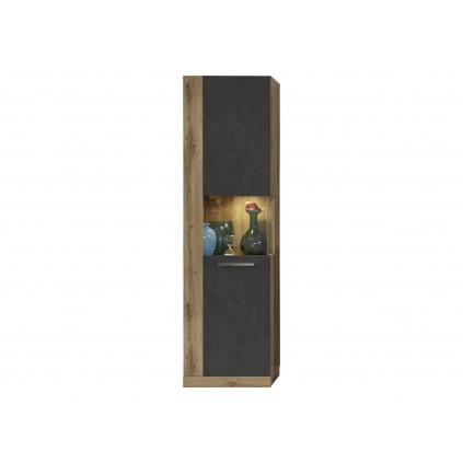 Vitrine Alexa 52 cm - Svart Eik - Trelook