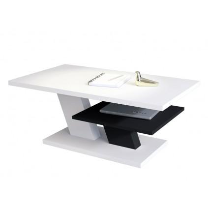 Sofabord Allen 110 cm - Hvit Svart Matt