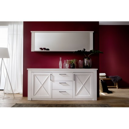 Speil Merina 197 cm - Hvit Furu