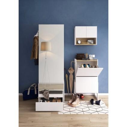 Garderobe Baro - med speil og skobenk