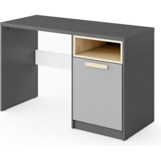 Skrivebord Piko 120 cm - Grafitt - Grå - Hvit