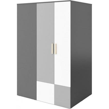 Hjørne garderobeskap Piko 130 cm - Grafitt - Grå