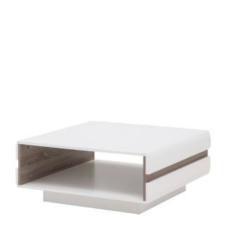 Sofabord Nateo 75x75 cm - Høyglans Hvit
