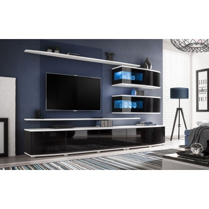 TV seksjon Conex - Moderne veggseksjon med belysning