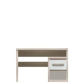 Skrivebord Benox 130 x 77 cm - Grå - Hvit Høyglans