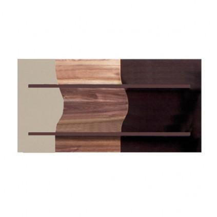 Panelhylle Verto 109 cm - Mørk Nøtt - Cappuccino Høyglans