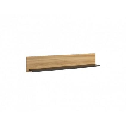 Vegghylle Areno 122 cm - Lys eik