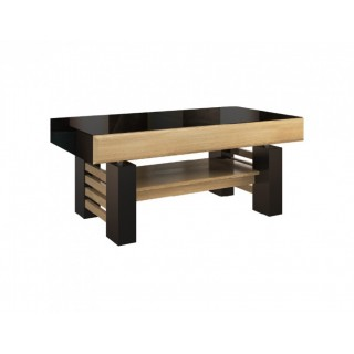 Sofabord Areno 120-160 cm - Lys eik - Svart