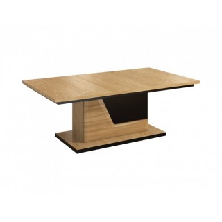 Sofabord Areno 130x48 cm - Lys eik - Svart
