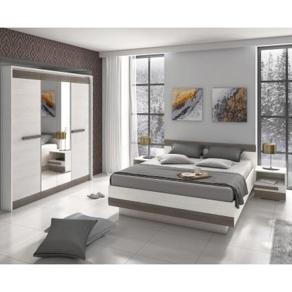 Garderobe Blanco 163 cm - Hvit Trelook - med speil