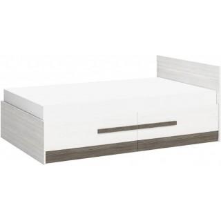 Seng Blanco 120 cm - Hvit Trelook - med oppbevaringsskuff