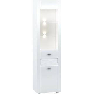 Vitrine Beco 55x201 cm - Hvit Høyglans