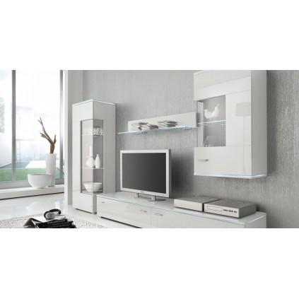 Seksjon Essen - Hvit høyglans - LED belysning