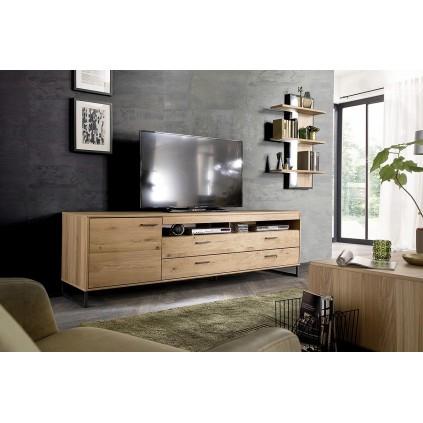 TV-benk Gotland 224 cm - Eikefiner - Høy - Heltre