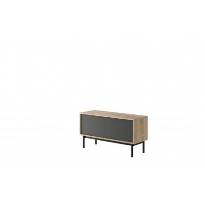 TV-benk Basico 104 cm - Trelook - Grafitt - Høy tv-benk