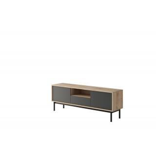 TV-benk Basico 154 cm - Treloook - Grafitt - Høy tv-benk