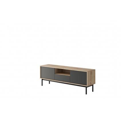 TV-benk Basico 154 cm - Trelook - Grafitt - Høy tv-benk