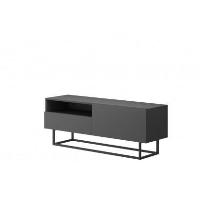 TV-benk Join 120 cm - Trelook - Grafitt - Hvit