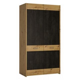 Garderobe Adile 106x200 cm - Trelook - Mørk Betong