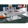 Sofabord Mareno 110 cm - Hvit - Betonggrå