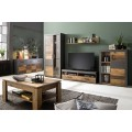 Tv-benk Indigo 139x41 cm - Gammel look - Grafitt