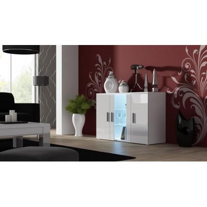 Skjenk Soho 120 cm - Glassdøre - Belysning