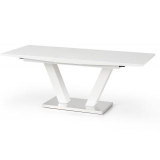 Spisebord Vision 160-200 cm - Forlengninsbart - Hvit høyglans