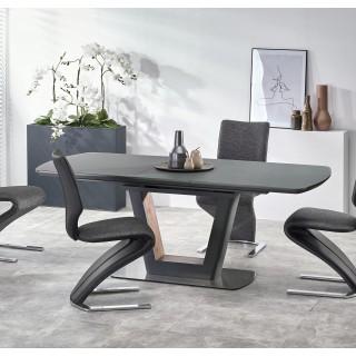 Spisebord Otty 160-200 cm - Antrasitt - Nøtt