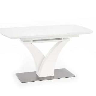 Spisebord Berma 140 - 180 cm - Hvit matt - Glass