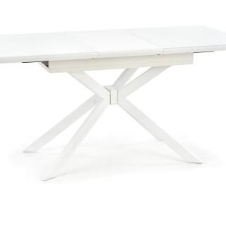 Spisebord Darper 120-160 cm - Hvit - Glass