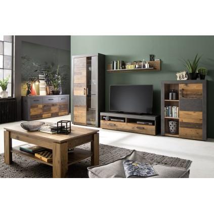 Stuebord Indigo 110x47 cm - Gammel look