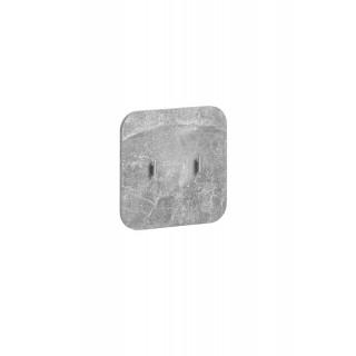 Veggpanel Wallion - med knagger - betonggrå