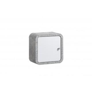 Veggskap Wallion 35 cm - betonggrå - hvit høyglans