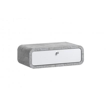 Veggskap Wallion 60 cm - betonggrå - hvit høyglans