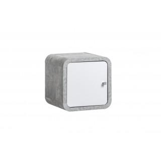 Veggskap Wallion 35x35 cm - betonggrå - hvit høyglans