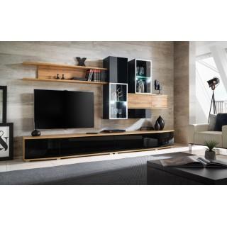TV seksjon Mantex - Moderne veggseksjon med belysning