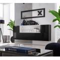 Skjenk Blox 175 cm - Vegghengt - Svart - Hvit