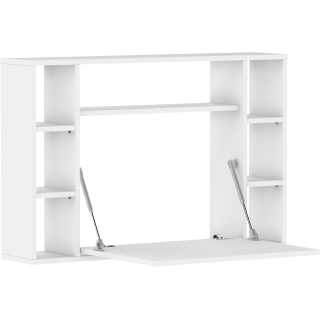 Skrivebord Musho 94 cm - Hvit matt - Vegghengt