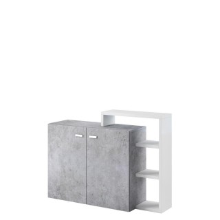 Skap Scaleo 130x82 - Betonggrå
